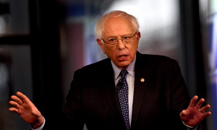 Democratic presidential candidate, U.S. Sen. Bernie Sanders (I-VT) participates in a FOX News Town Hall at SteelStacks on April 15, 2019 in Bethlehem, Pennsylvania. (Mark Makela/Getty Images)
