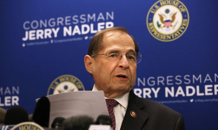 House Judiciary Committee Chairman Jerrold Nadler (D-N.Y.) holds a news conference in New York City on April 18, 2019.   (Spencer Platt/Getty Images)