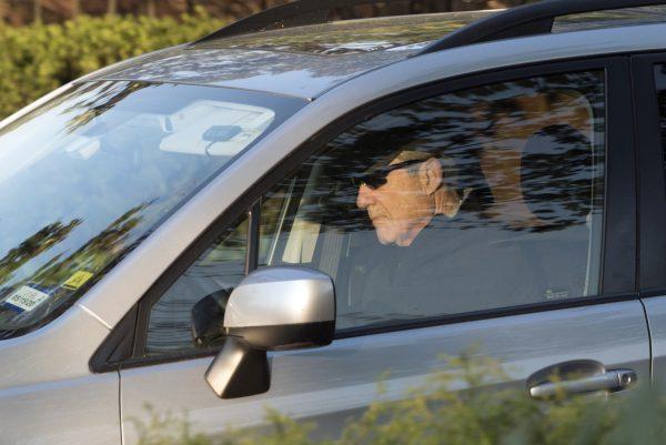 Mueller driving in car