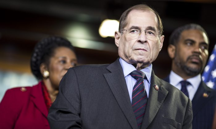House Judiciary Committee Chairman Rep. Jerry Nadler (D-NY) attends a news conference on April 9, 2019 in Washington, DC. (Zach Gibson/Getty Images)