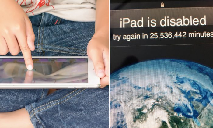3-Year-Old Disables Dad's iPad for 25 Million Minutes or 48.58 Years, That's Until 2067
