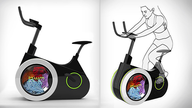 Innovative 'Bike Washing Machine' Combines Stationary Bike Exercise & Washing Clothes