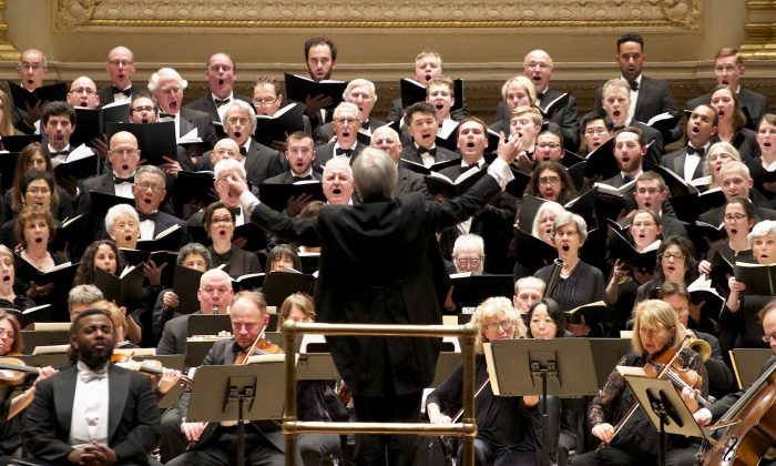 The Cecilia Chorus of New York will perform works by Brahms, Elgar, and the Brothers Balliet on May 3, 2019, at Carnegie Hall. (The Cecilia Chorus of New York)