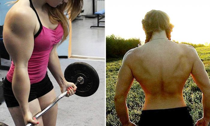 'Muscle Barbie' With Buff Physique and the Face of Porcelain Doll Can Deadlift 400lb