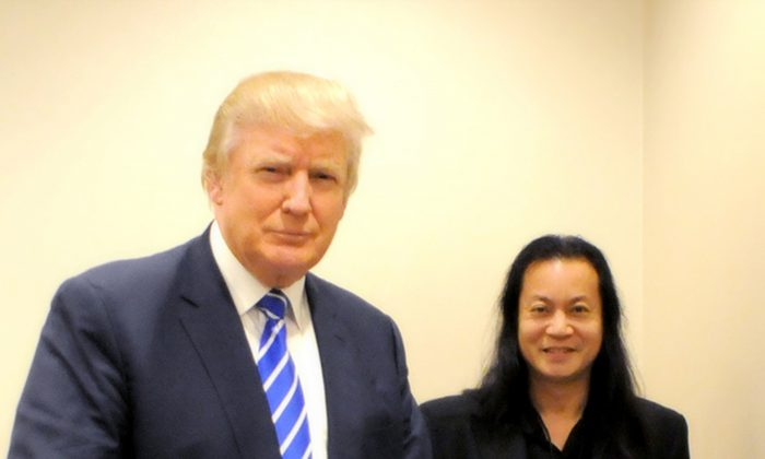 President Trump with Gene Ho (R) during the 2016 presidential campaign. (Courtesy Gene Ho)