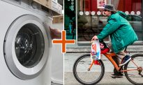 Innovative 'Bike Washing Machine' Combines Stationary Bike Exercise & Washing Clothes