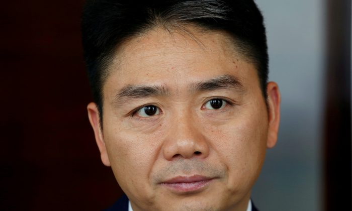 JD.com founder Richard Liu attends a Reuters interview in Hong Kong, China on June 9, 2017.      (Bobby Yip/Reuters)