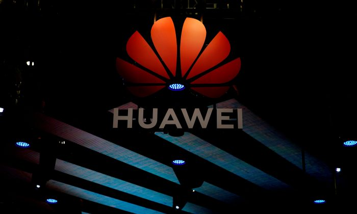 A Huawei logo is pictured during the media day for the Shanghai auto show in Shanghai, China, on April 16, 2019. (Aly Song/Reuters)