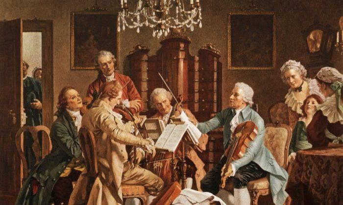 """Joseph Haydn Playing Quartets."" StaatsMuseum, Vienna. (Public Domain)"