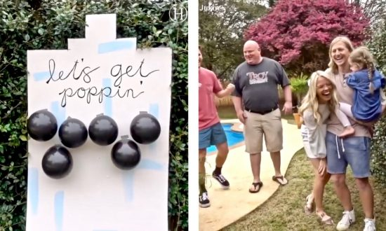 "'Let's Get Poppin"": Video Shows Innovative Gender Reveal Party With Balloons and Darts"