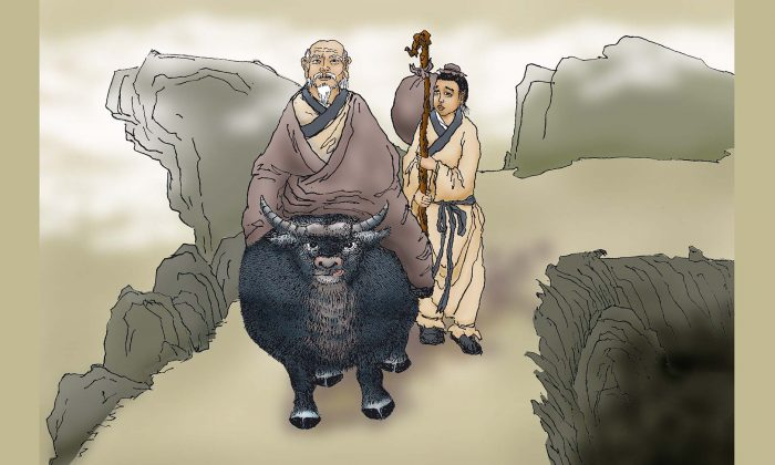 It is said that Laozi had a servant named Xu Jia who had served him for over 200 years. (Sun Mingguo/The Epoch Times)