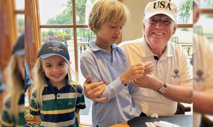 President Trump Enjoys Quality 'Grandpa Time' With His Grandchildren Over the Easter Weekend