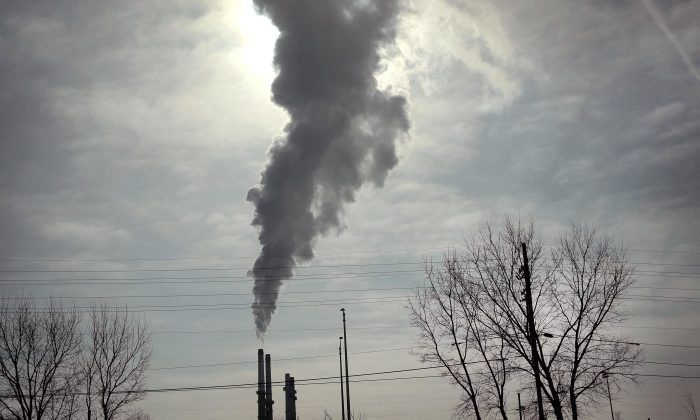 Smoke rises from a coal-fired power plant in Romeoville, Illinois, on Feb. 1, 2019. (Scott Olson/Getty Images)