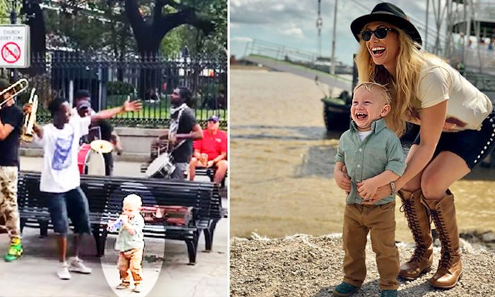 Video of Toddler's Impromptu Encounter With Street Jazz Band Goes Viral on Facebook