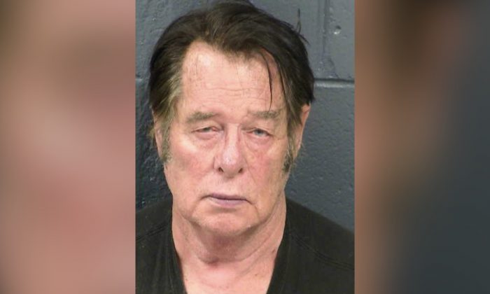 Larry Mitchell Hopkins appears in a police booking photo taken at the Dona Ana County Detention Center in Las Cruces, N.M., on April 20, 2019. (Dona Ana County Detention Center/Handout/Reuters)