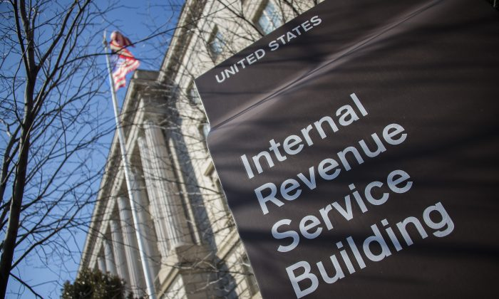 The Internal Revenue Service (IRS) building is viewed in Washington on Feb. 19, 2014. (Jim Watson/AFP/Getty Images)