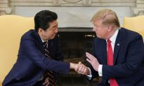 Trump Hosts Japan's Abe at the White House