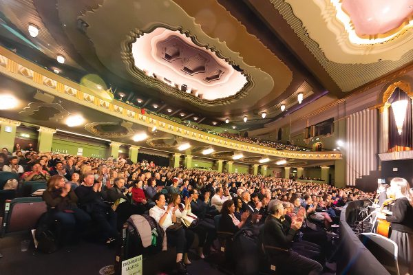 The audience at the end of the evening performance of Shen Yun