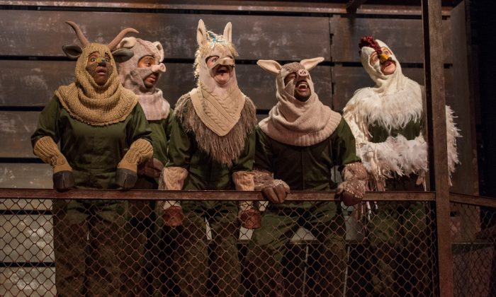"""The cast of """"Animal Farm"""" in Steppenwolf for Young Adults' 2014 production. (Michael Brosilow)"""