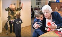 6-Year-Old 'Cop' Melts Hearts as He Spreads Love at Nursing Homes