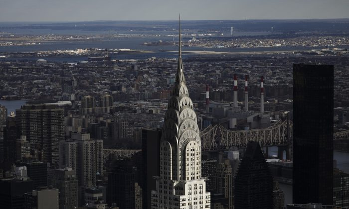 The Chrysler Building stands in Midtown Manhattan in New York City on Jan. 9, 2019. (Drew Angerer/Getty Images)