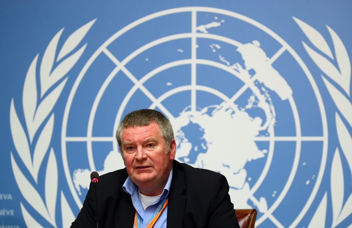 Mike Ryan, Executive Director of the World Health Organisation (WHO) attends a news conference