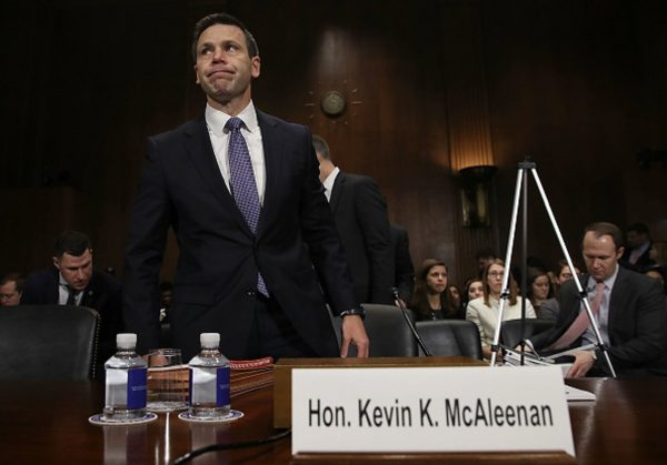 Kevin K. McAleenan, commissioner of U.S. Customs and Border Protection, arrives to testify