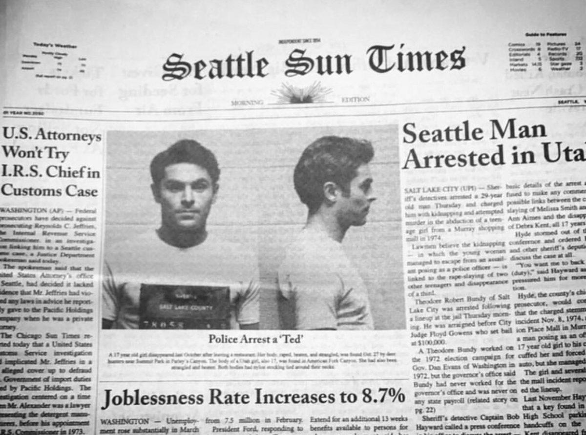 serial killer photo in a newspaper