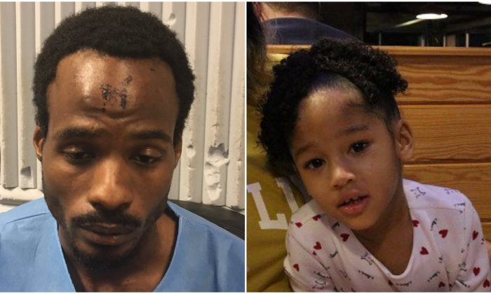 Maleah Davis (L) and her stepfather Darion Vence, pictured with a mark on his forehead after he said he had been abducted with his daughter. (Houston Police Department)