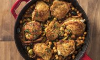 Chicken Tagine With Fennel, Chickpeas, and Apricots