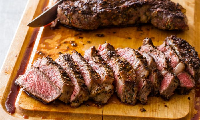 Spice-Crusted Rib-Eye Steaks