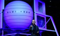Billionaire Bezos Unveils Moon Lander Mockup, Embraces Trump's Lunar Timetable