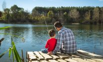 Passerby Sees Dad and Son Fishing at Lake. Moments Later, Father Jumps Right Into Water