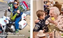 Video: 6-Year-Old 'Police Officer' Spreads Love at Nursing Homes With Hugs and Flowers