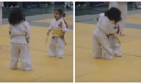 Video: Adorable Three-Year-Old Girls' First Judo Fight