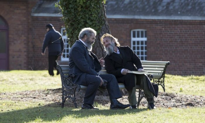 """Mel Gibson (L) and Sean Penn star in """"The Professor and the Madman."""" (Patrick Redmond/ Vertical Entertainment)"""