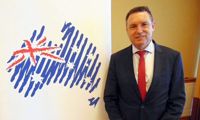 Senate Candidate Lyle Shelton attends the Australian Conservatives campaign launch at the Surfers Paradise Marriott Resort on the Gold Coast, Australia, on April 30, 2019. (Richard Szabo/The Epoch Times)