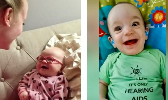 6e95d4d7d Video: The Incredible Moment Babies Hear and See Their Parents for the  First Time