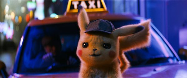 """The character Detective Pikachu, voiced by Ryan Reynolds, in a scene from """"Pokemon Detective Pikachu."""