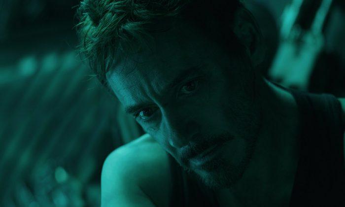 """Robert Downey Jr. in a scene from """"Avengers: Endgame."""" (Disney/Marvel Studios via AP)"""