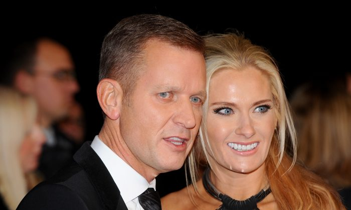 Jeremy Kyle (L) attends the National Television Awards at 02 Arena in London, England, on Jan. 21, 2015. (Anthony Harvey/Getty Images)