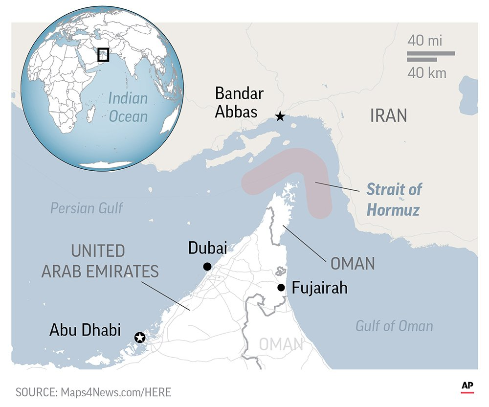 The Strait of Hormuz, though considered an international waterway,