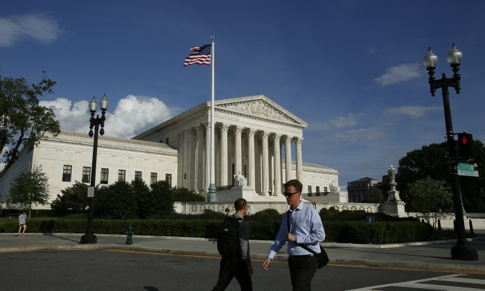 The Supreme Court building in Washington on May 7, 2019. (Samira Bouaou/The Epoch Times)