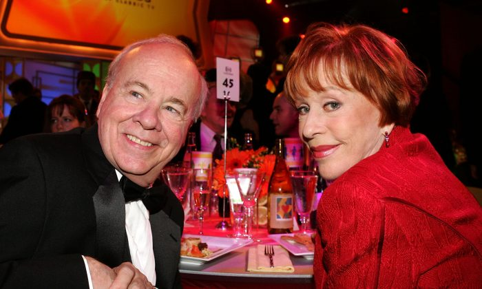 Actor Tim Conway and Actress Carol Burnett in the audience at the 2005 TV Land Awards at Barker Hangar on March 13, 2005 in Santa Monica, California.  (Vince Bucci/Getty Images)