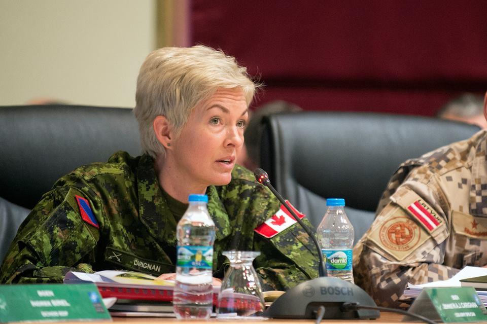 Jennie Carignan canadian army officer
