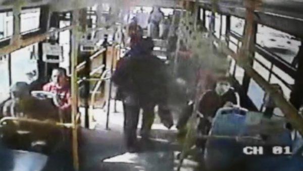 Bus couple fight
