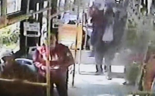 Couple bus fight