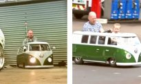 Dad Creates Tiny VW Camper Van From Mobility Scooter