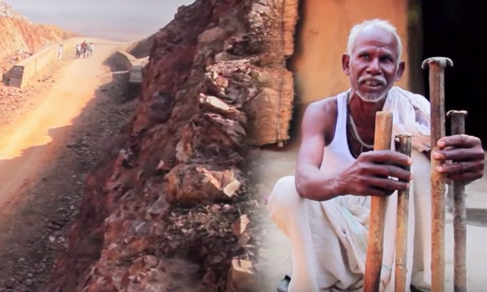 Man Spent 22 Years Breaking a Mountain Single-Handedly for One Big Reason