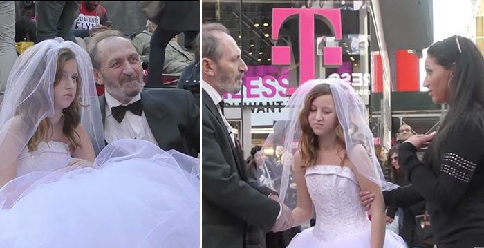 65-Year-Old 'Groom' Poses With Child 'Bride' in New York, but Then a Lady Grabs Her Away